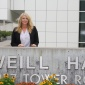 Donna Bunce at Weill Hall building